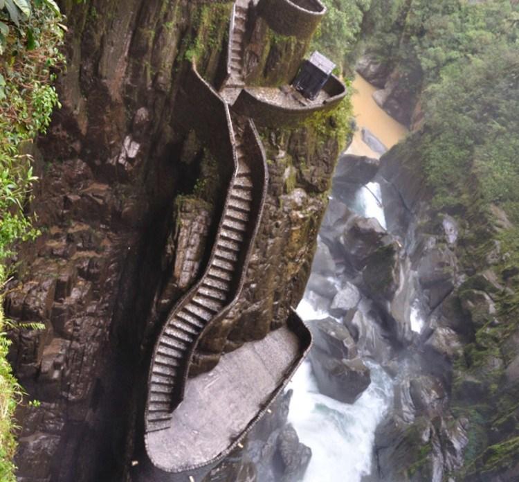 Escalera del diablo en Ecuador