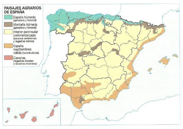 principales paisajes agrarios