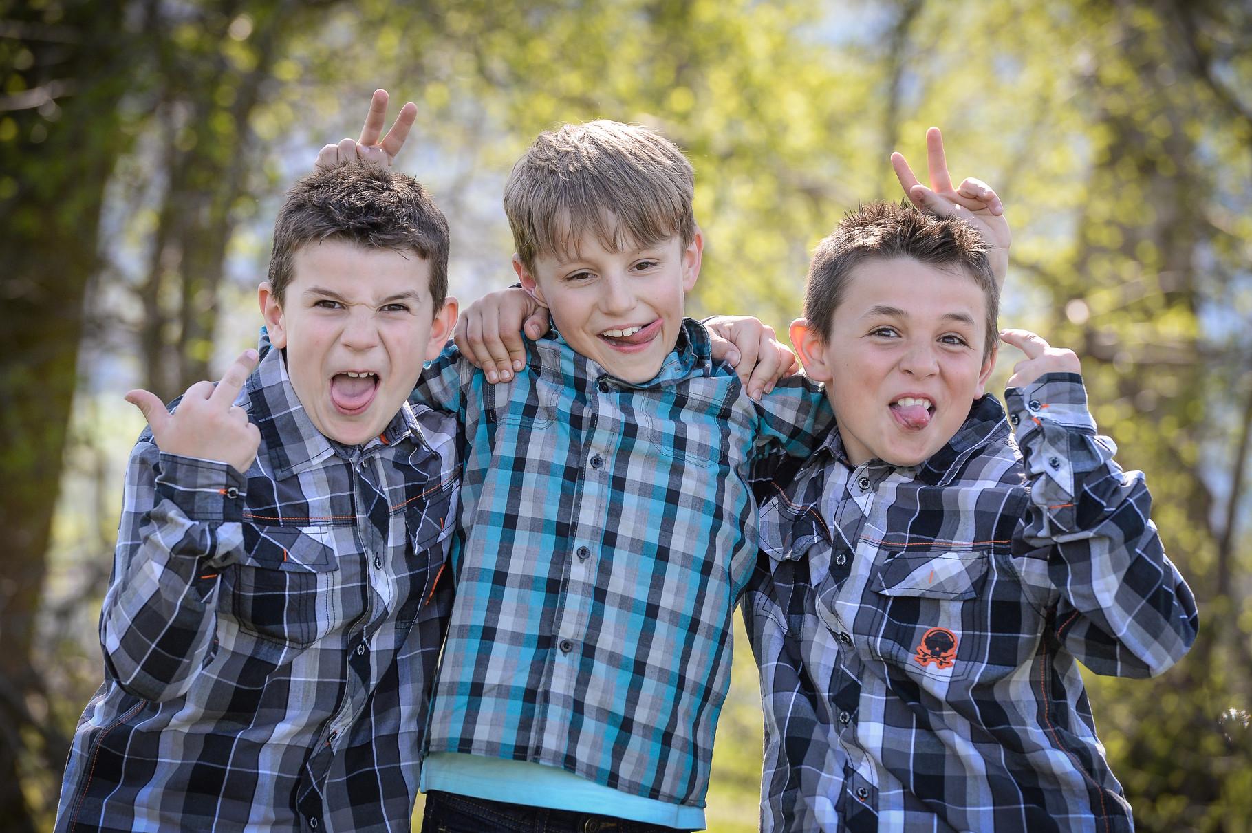 Raphi,Noah und Dominik