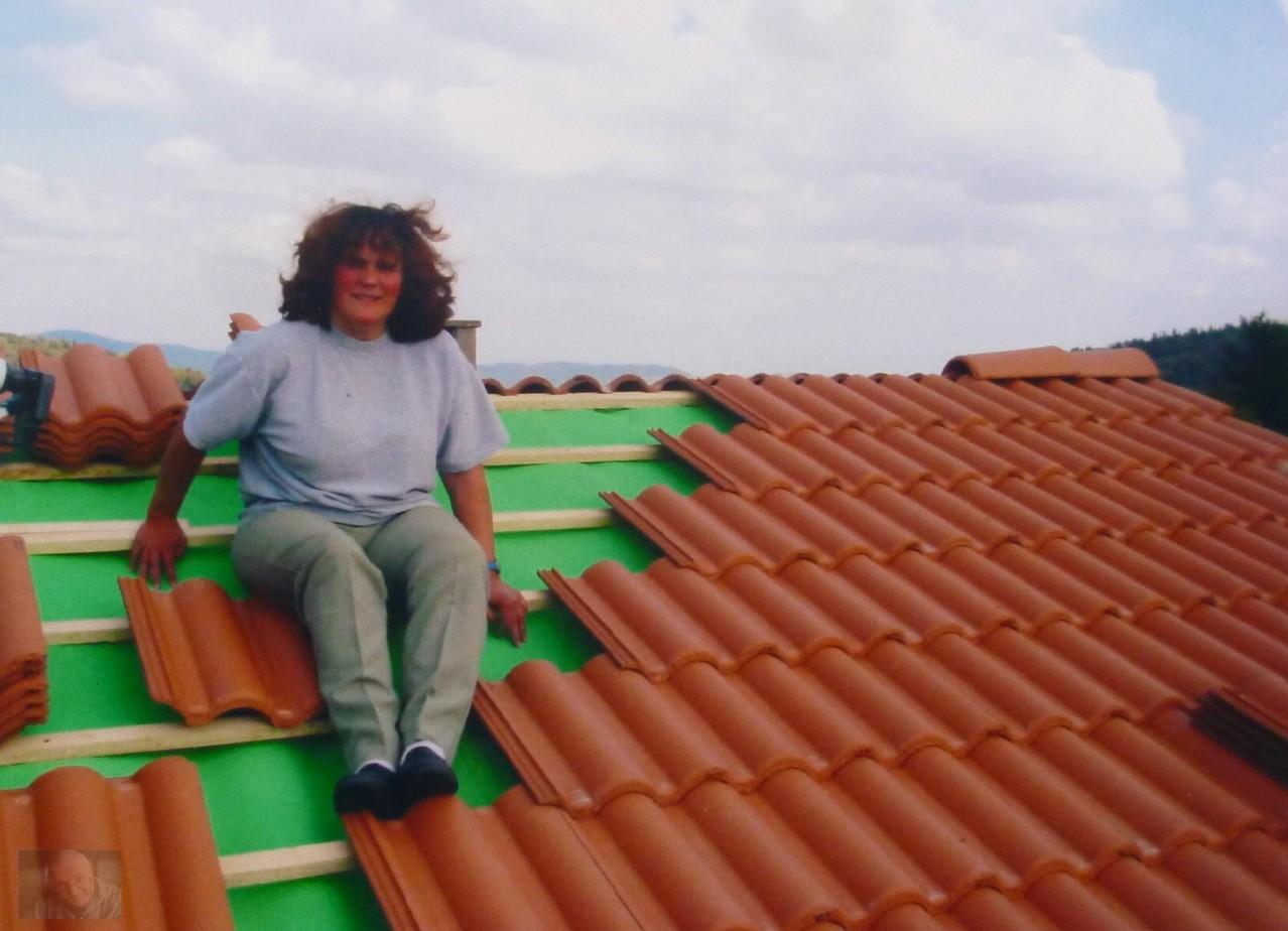 Agnes genoss auch mal die Aussicht von da oben