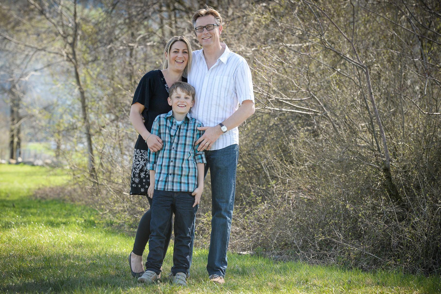 Evelyne mit Filu und Noah