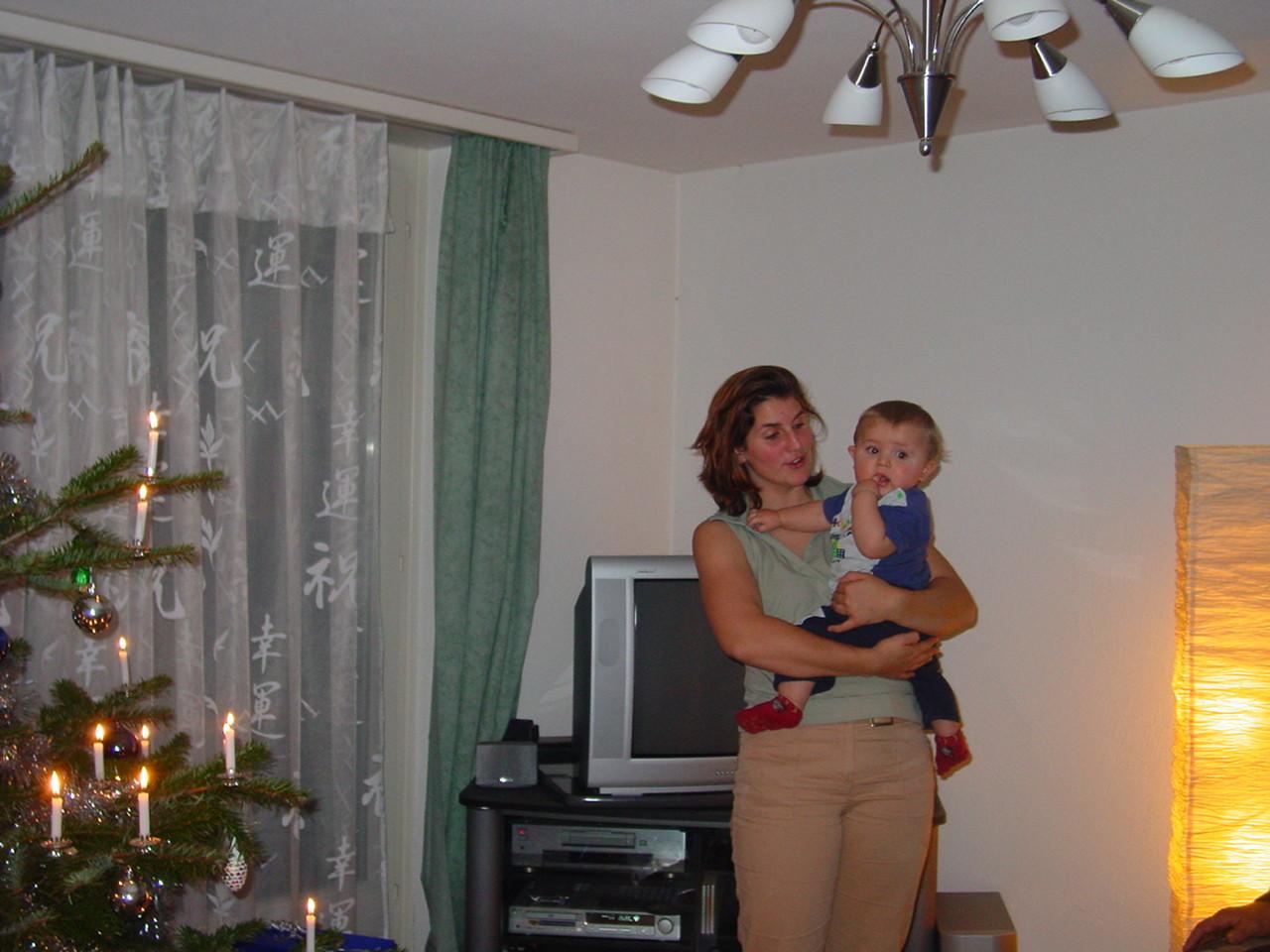 Yvonne mit Dominik