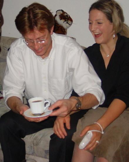 Die jüngste Tochter Evelyne mit Ehemann Philip