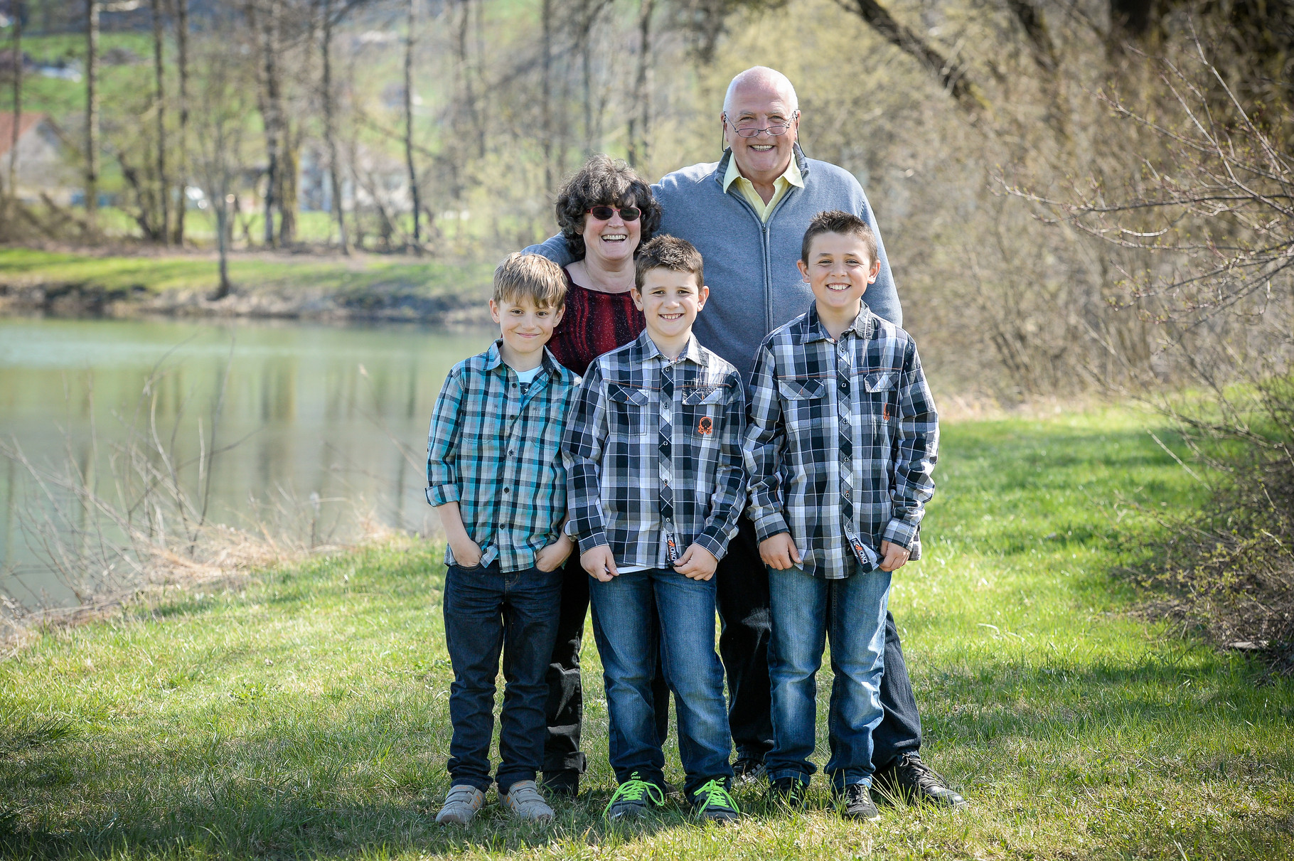 Mit Enkel Noah,Raphi und Dominik
