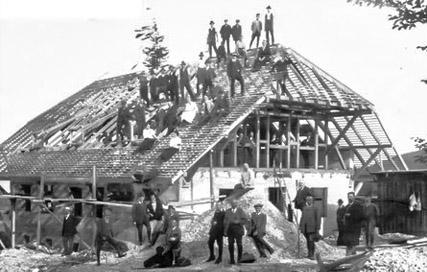 Wasserberghaus Aufbau