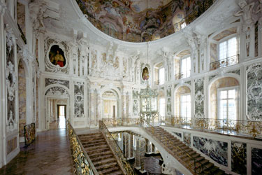 Die berühmte Treppe von Balthasar Neumann