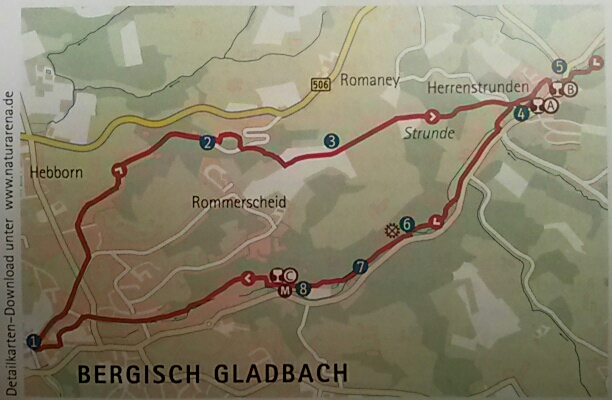 Wegkartierung von www.naturarena.de