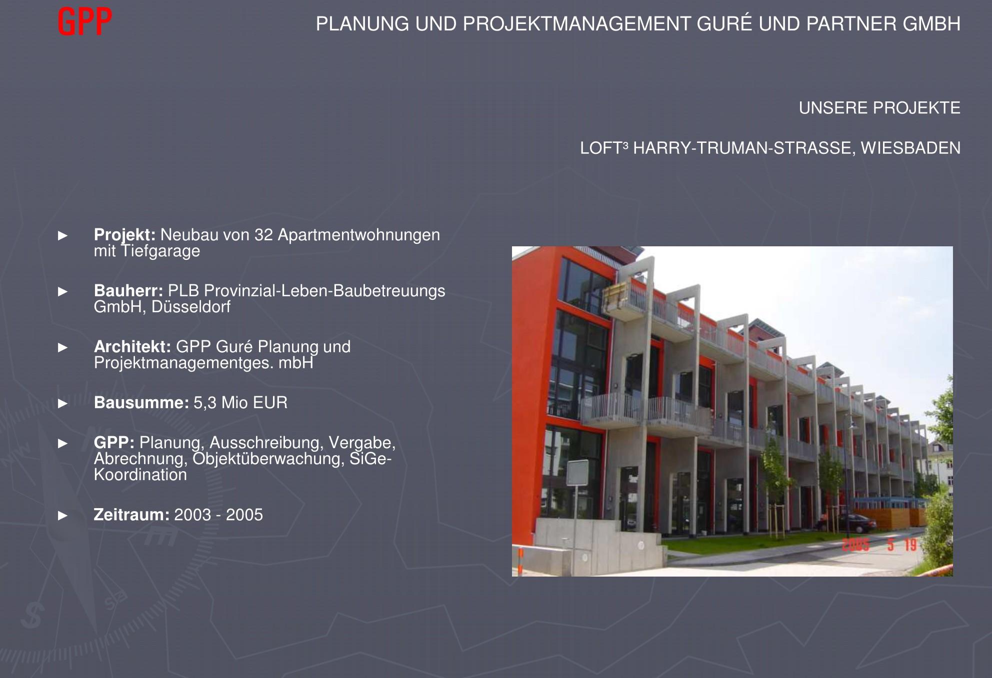 Planung, Ausschreibung, Vergabe, Abrechnung, Objektüberwachung, SiGe- Koordination
