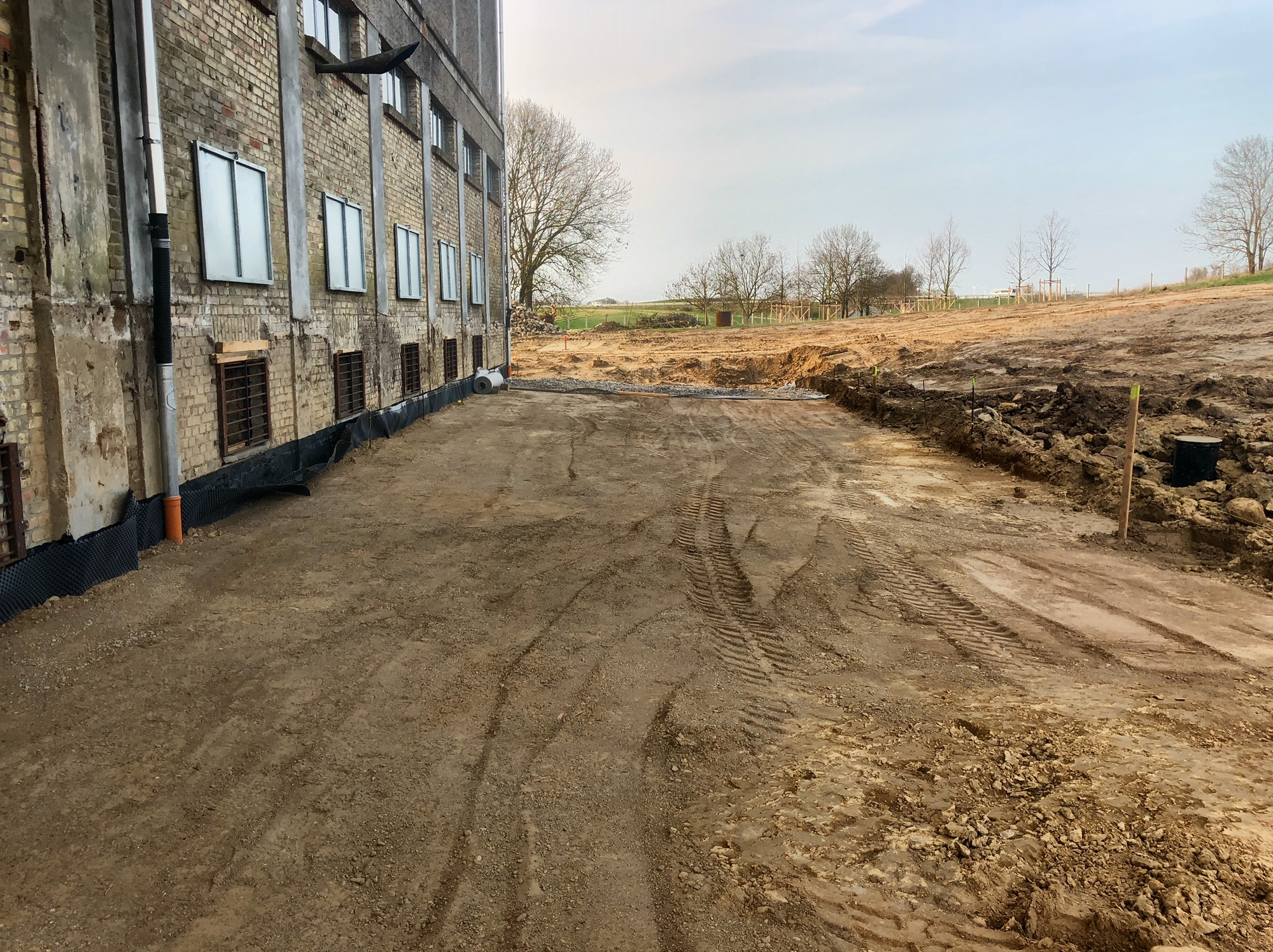 02.April 2019 Vorbereitung Planum Pflasterunterbau