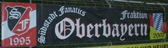 Das Transparent der Fraktion Oberbayern