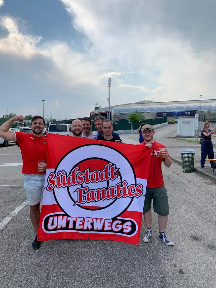 Eine Abordnung der Südstadt Fanatics reiste zu den Spielen der U21 Mannschaft nach Udine