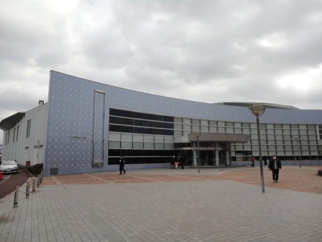 試合会場(旭市総合体育館)