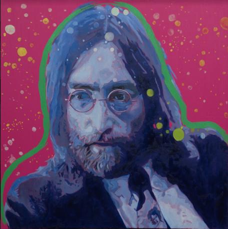 """""""John"""" 70 x 70 cm Öl/ Acryl auf Leinwand"""