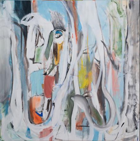 """White Horse"" 200 x 200 cm - Acryl auf Leinwand"
