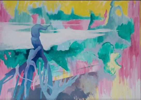 """o.T."" 170 x 240 cm - Acryl auf Leinwand"