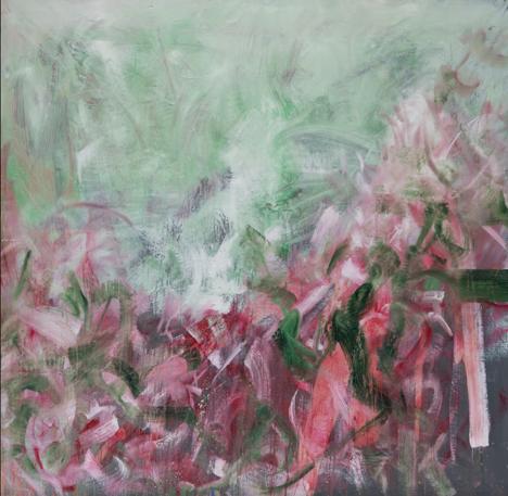 """""""Blumen im Moor"""" 195 x 200 cm - Öl auf Leinwand"""