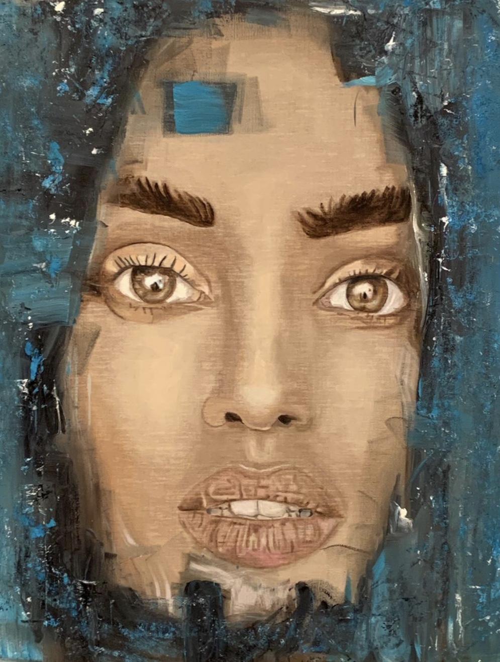 """""""Blue Angel"""" 80 x 100 cm - Öl auf Leinwand"""
