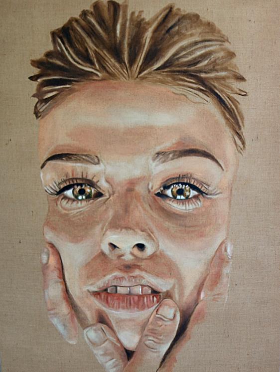 """""""ohne Titel"""" 120 x 160cm - Öl auf Leinwand"""