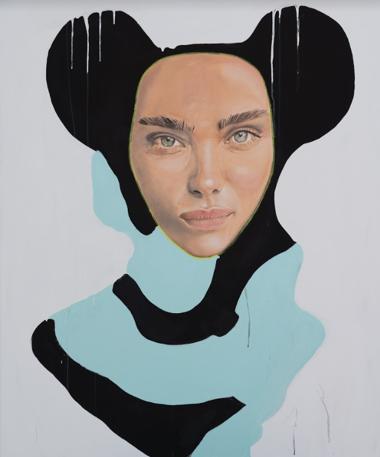 """Mickey Molekül II"" 100 x 120 cm - Öl/ Acryl auf Leinwand"