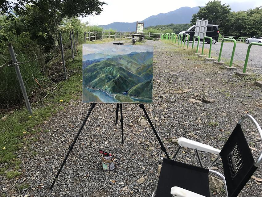 雲取山を描く