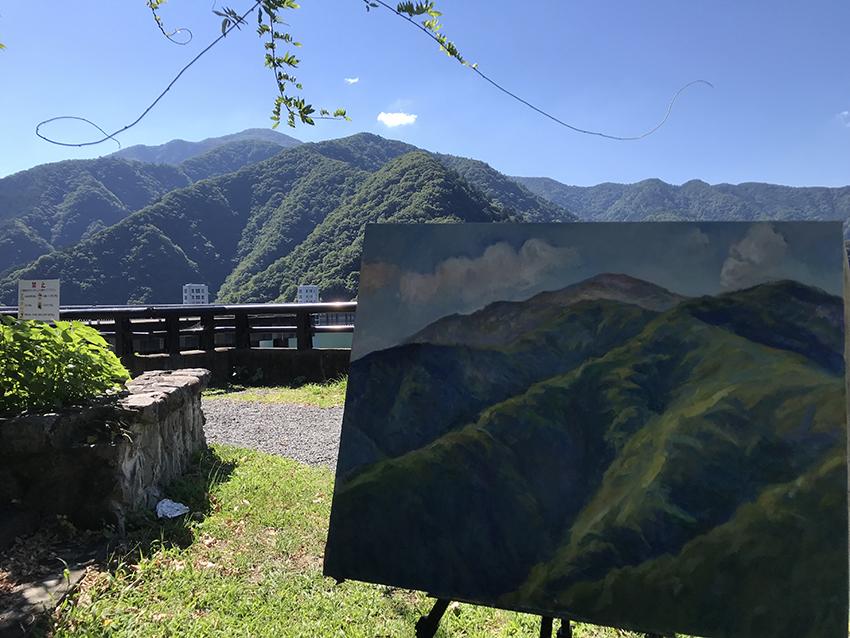 御前山を描く2