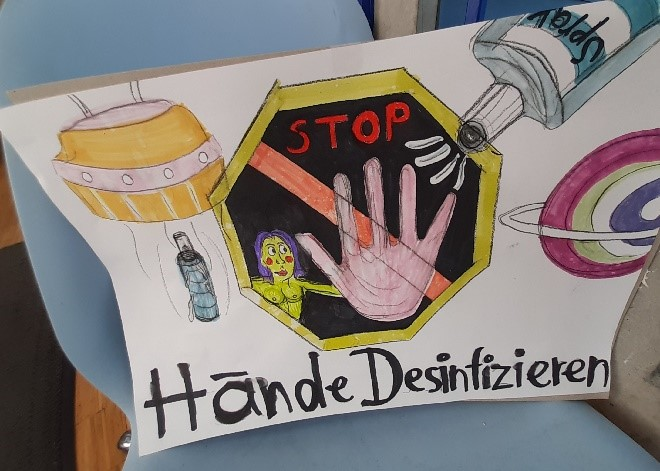 Stopp bevor du in die blue.box kommst --> Desinfektion!!!