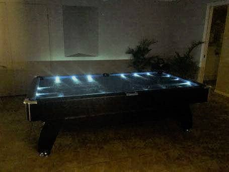 LED Pool Table Blue