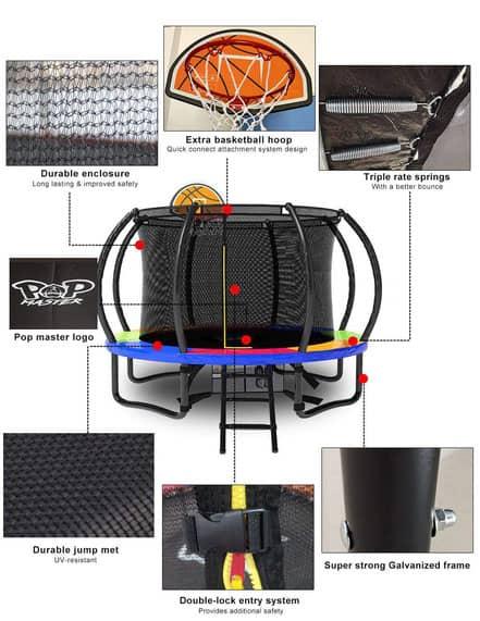 Sleek Curved Design Trampoline