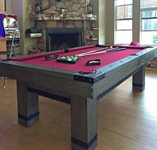 8ft Slate Pool Table