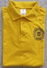 polo = te verkrijgen in geel of marineblauw
