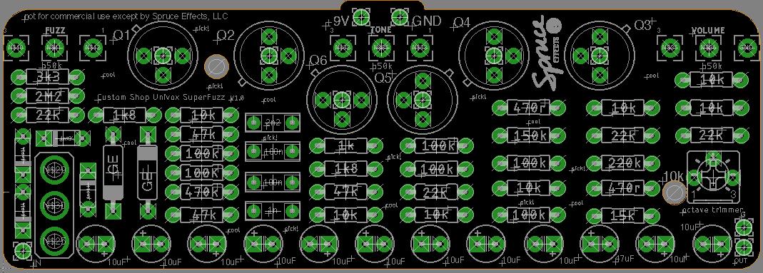DIY - Spruce Effects Univox Superfuzz Schematic on univox strat, univox schematics, univox guitar pedals, univox serial numbers,