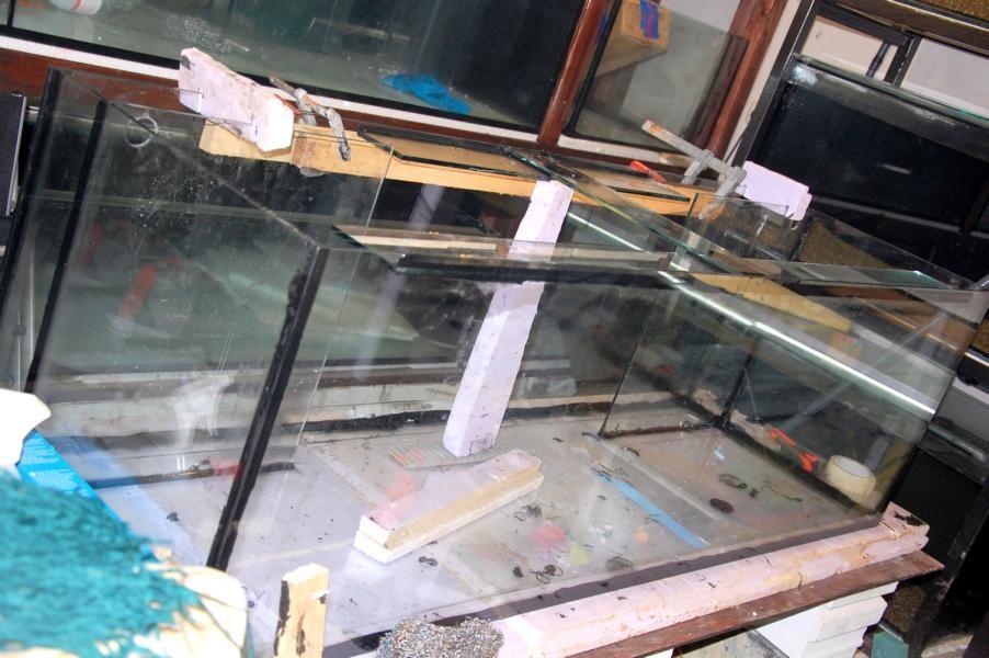 Kleben von Glas für HMF 1