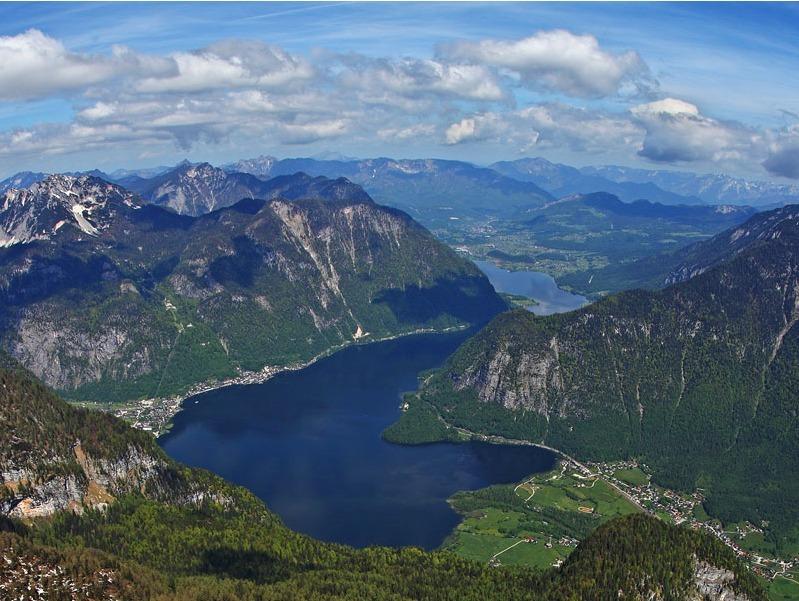 Der Blick auf den Hallstätter See