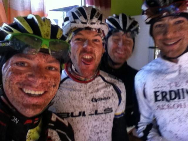 Gute Laune nach einem langen Trainingstag im Odenwald mit Karl Platt &Lothar Leder
