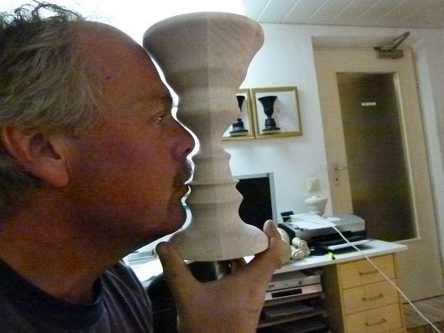 Mein Drechslerfreund KlausE  mit seiner klassischen Conturette