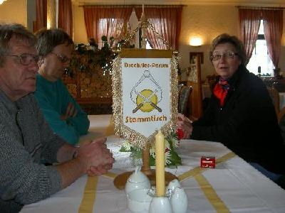 Stammtischschild beim Besuch in Olbernhau