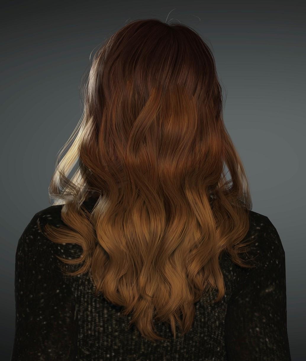 Clara mit langem Haar inkl. sanfter Farbverlauf