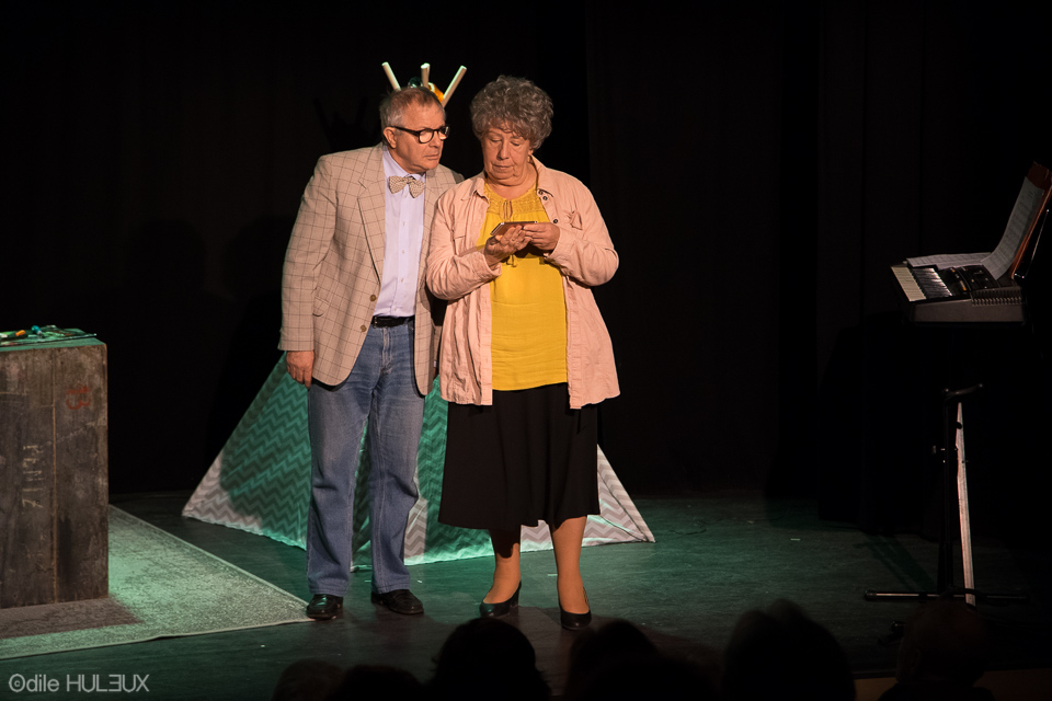 Philippe Ledoux (Serge Gelly) et Hortensia (Josée Laprun)