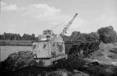 Lorenbahn an einer ehemaligen Bademoorentnahmestelle