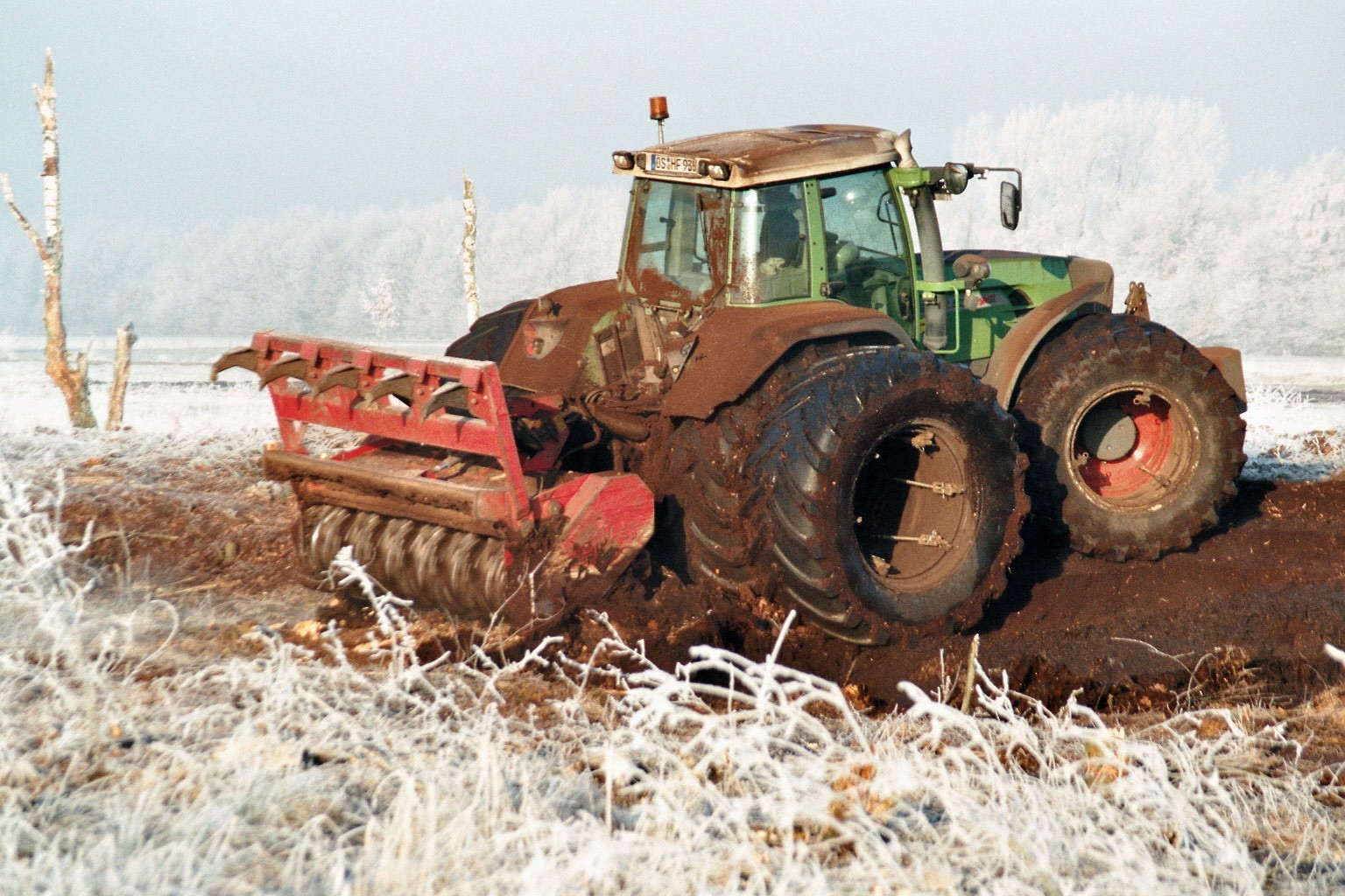 Forstfräse im Dezember 2007
