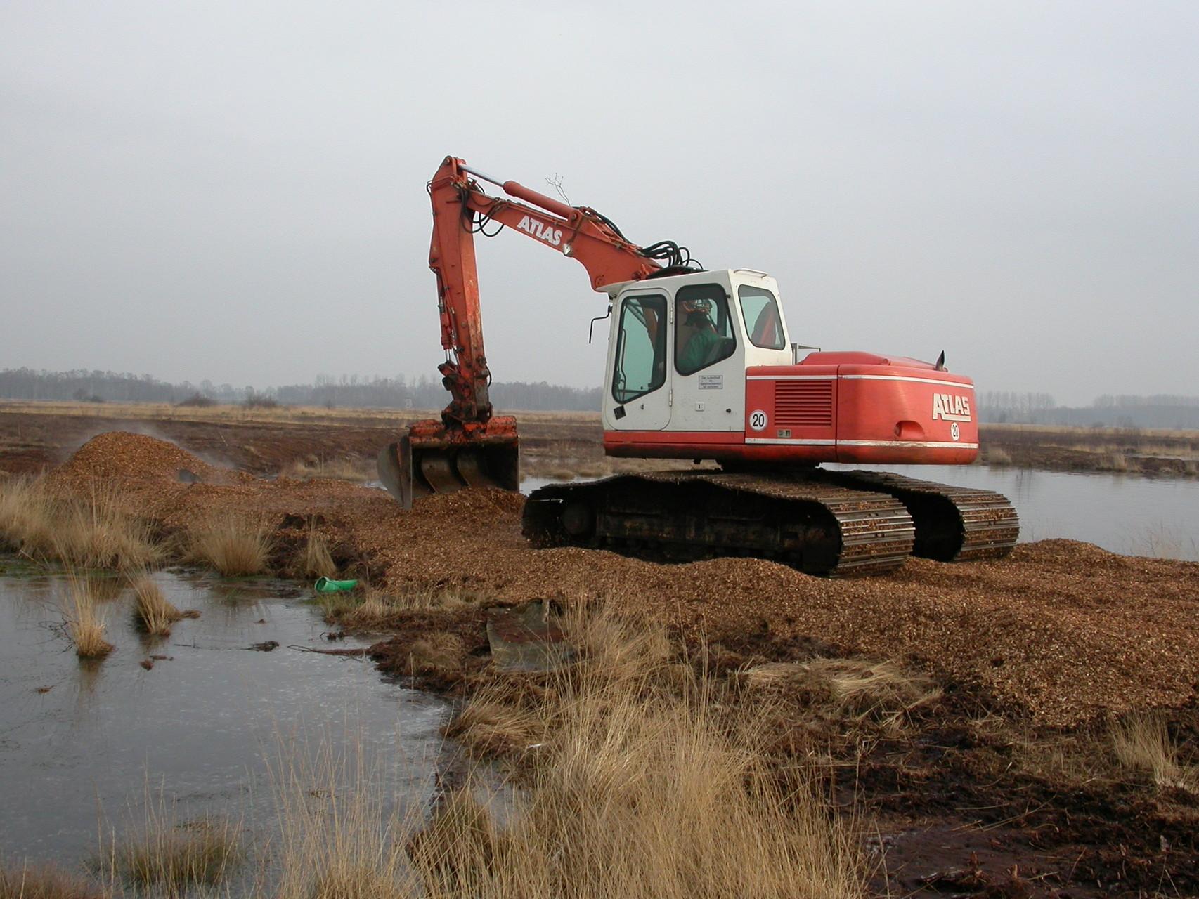 4. Dammbau im Februar 2005