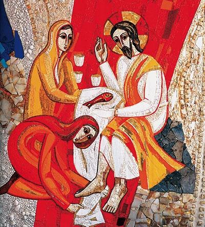 Marthe et Marie accueillant Jésus à Béthanie