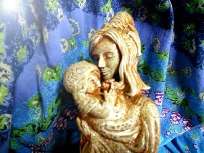 彫塑 立花雪 YukiTachibana 炎と楽園のアート  楽々土像