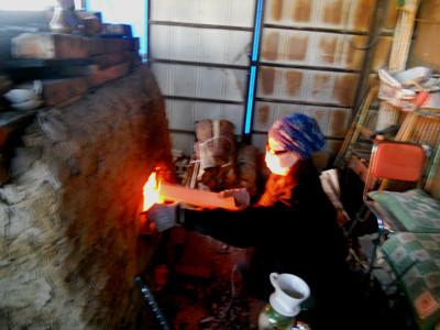 2011 12月年末の窯焚き     立花雪  YukiTachibana  炎と楽園のアート  武州熊谷ひみこ窯
