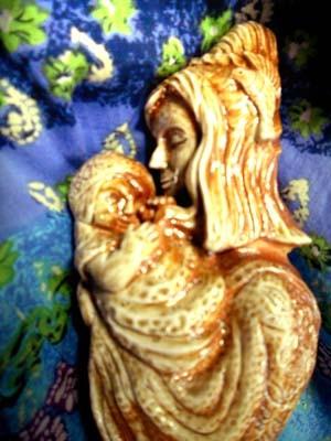 無邪気な微笑み 彫塑 立花雪YukiTachibana 炎と楽園のアート 楽々土像