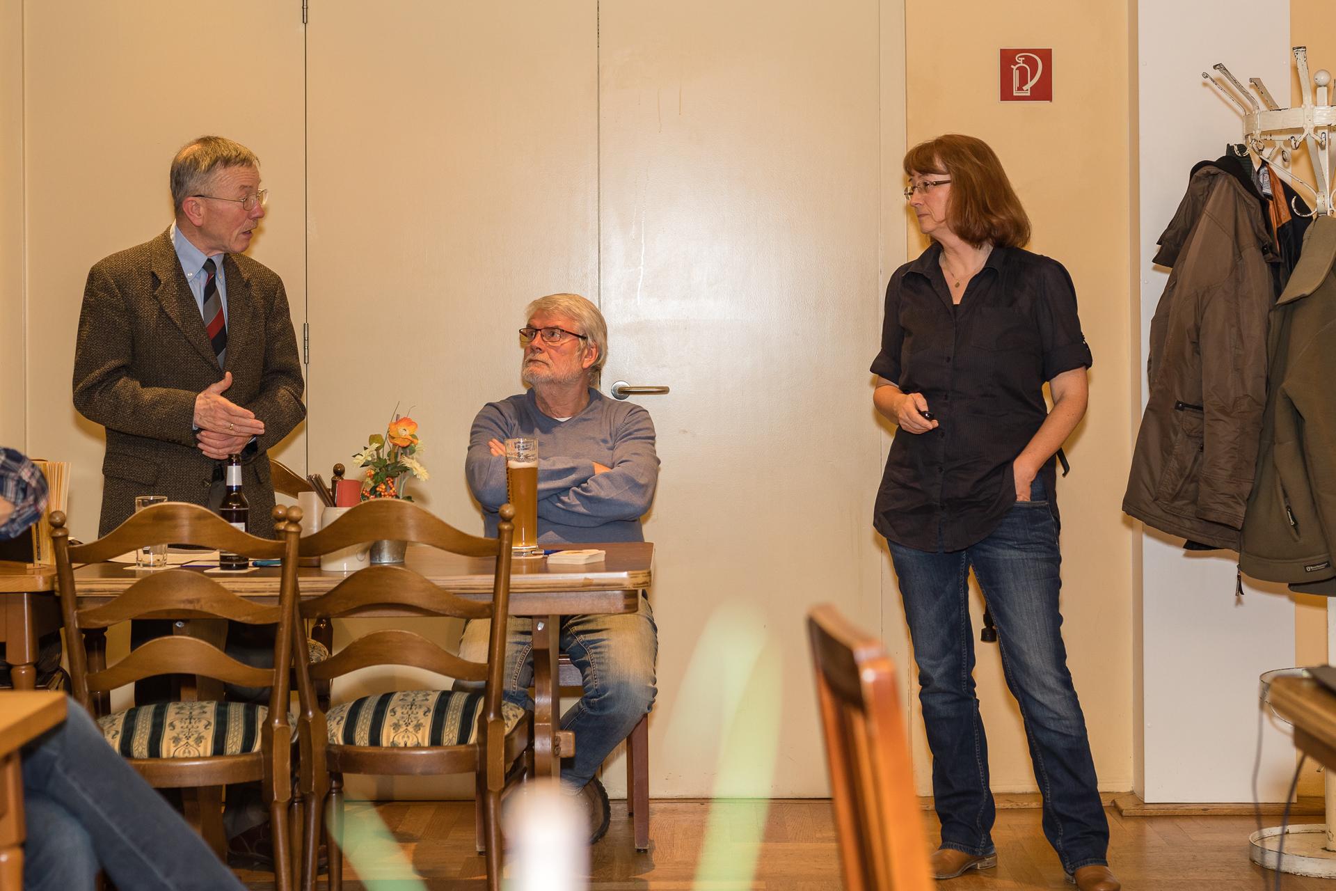 Rea Brinkhoff und Dr. Christian Hoyer im Austausch über Windkraft (Foto: Andreas Sebald)