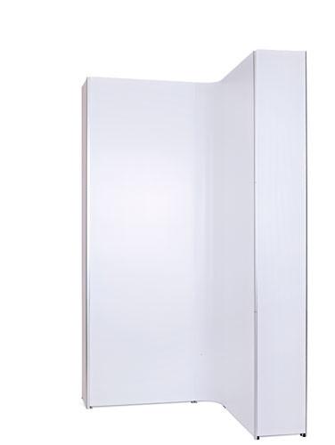 Flat Sides sind eine einfache Zusatzoption. Einfach an die Magnetschienen anbringen, um diesen stilvollen Look zu erhalten.