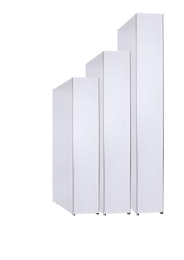 Verwenden Sie verschiedene Magnetschienen und Strukturen, um Ihr System auf 2,5 oder 3 m zu erhöhen.