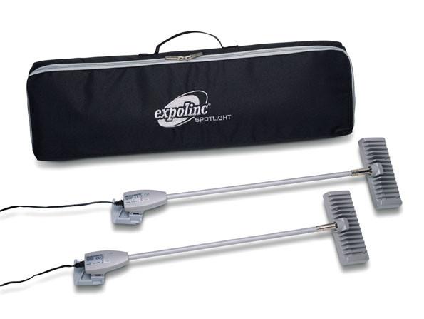 High End LED-Strahler sind in einem Kit erhältlich inkl. 2 Fluter 15W 1200 lumen, Nylontasche und Schutzbeutel.