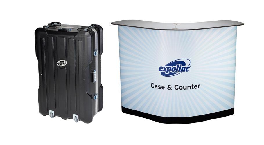 Der Case & Counter ist ein geräumiges Transport Case, das sich in einer Minute in eine stabile Theke mit Einlegeböden verwandelt.